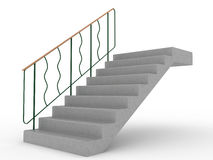 Concrete stairs with green railings №2 Stock Images