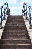 Concrete stairs leading upwards Stock Photo