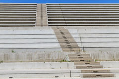 Concrete Stairs in modern amphitheater Royalty Free Stock Photos
