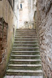 Concrete stairs in the old town of Kotor Stock Image