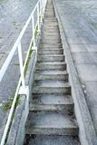 Concrete stairs. Open air concrete stairs going upwards stock images
