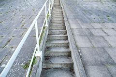 Concrete stairs. Open air concrete stairs going upwards royalty free stock images