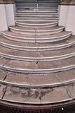 Concrete Stairs In Portrait. An old building's old concrete stairs Stock Photo