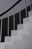 Concrete stairs with railings Royalty Free Stock Images