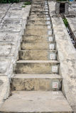 The concrete stairs with sequence numbers stock photo