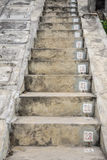 The concrete stairs with sequence numbers stock image