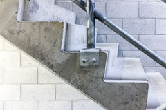 Concrete Stairs Side View Royalty Free Stock Images