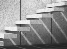 Concrete stairs on wall. 3d illustration. Abstract empty interior background with concrete stairs on wall. 3d illustration Stock Photos