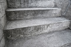 Concrete stairway as abstrct composition Stock Images