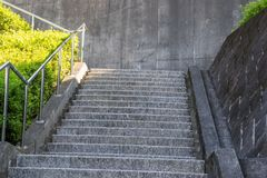 Concrete stairways in Japan Stock Images