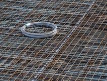 0499_concrete stali maty i monier żelazo dla podłogowej cegiełki Obraz Stock