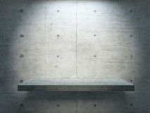 Concrete stand under spot light. With concrete wall for mock up 3d rendering Stock Image