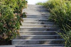 Concrete stappen Stock Foto