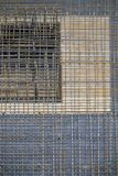 Concrete steel. A concrete steel mesh on a building site Royalty Free Stock Photography