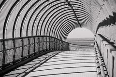 Concrete and steel arched bridge walkway Stock Photos