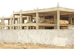 The concrete and steel building. Under construction Stock Photos