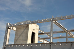 Concrete and steel building frame Royalty Free Stock Images