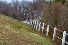 Concrete & steel fence needing repair Stock Photography