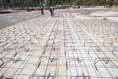 Concrete Steel Frame Flooring Stock Images