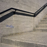 Concrete Steps And Iron Railings Royalty Free Stock Photo