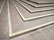 Concrete steps, approaching pattern Royalty Free Stock Image