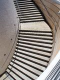 Concrete Steps in Circular Stairwell Stock Photos