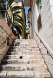 Concrete Steps in French Town royalty free stock photo