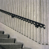 Concrete steps and iron railings Royalty Free Stock Images