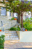 Concrete steps leading to the house Stock Photography