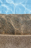 Concrete steps and swimming pool Stock Image