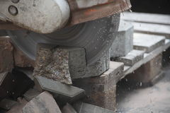 Concrete stone cutter Royalty Free Stock Photo