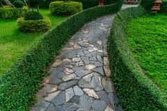 Concrete Pathway in garden Royalty Free Stock Photos