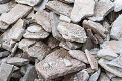 Concrete and stone rubble Stock Photo