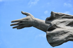 Concrete stone statue female hand Royalty Free Stock Image