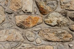 Concrete and stone wall Royalty Free Stock Image