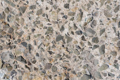 Concrete with stones, texture Stock Images