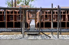 Concrete stralen Stock Fotografie