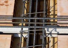 Concrete stralen die worden geënt Stock Fotografie