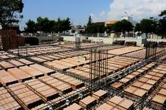 Concrete stralen die worden geënt Stock Foto's