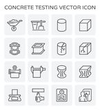 Concrete testing icon. Concrete strength testing and laboratory icon set stock illustration