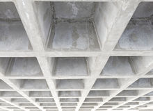 Concrete structure ceiling Royalty Free Stock Image