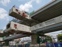 Concrete structure at the elevated pink line construction site