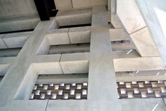 Concrete structure of a facade Royalty Free Stock Photos