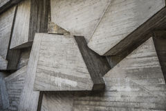 Concrete structures, modern architecture square background Stock Photos