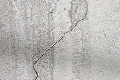 Concrete surface with crack Royalty Free Stock Images