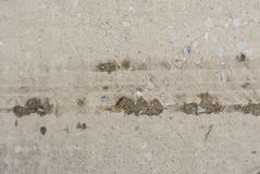 concrete surface, on of the road were demolished due to poor con Royalty Free Stock Photo
