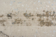 Concrete surface, on of the road were demolished due to poor con Stock Photo