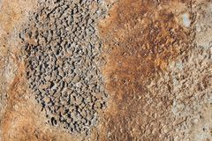 Concrete surface with rust Royalty Free Stock Photography