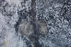 Concrete surface stained with bitumen Royalty Free Stock Images
