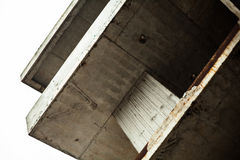 Concrete surfaces of the unfinished building Stock Images